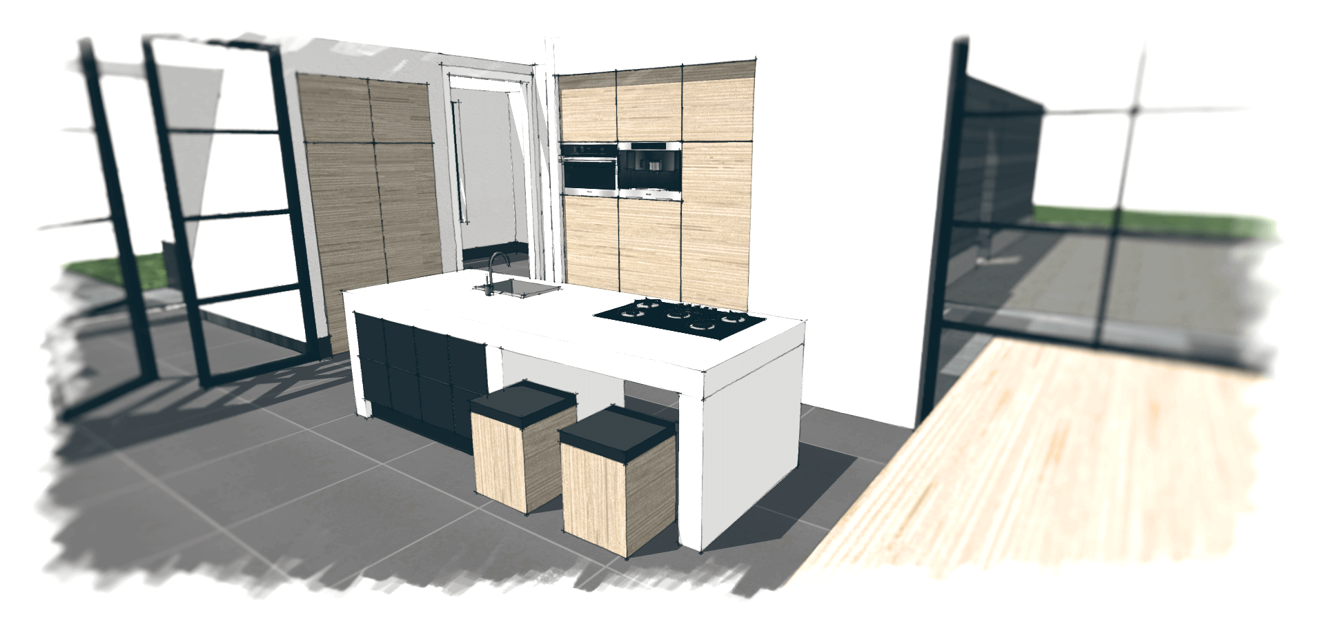 Welke keukenindeling past het beste bij jou jouw woning for Keuken tekenen programma