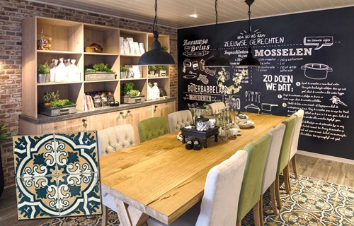 Strak Keuken Tegels : Zelfbouwmarkt voor een modern strak vintage en retro interieur