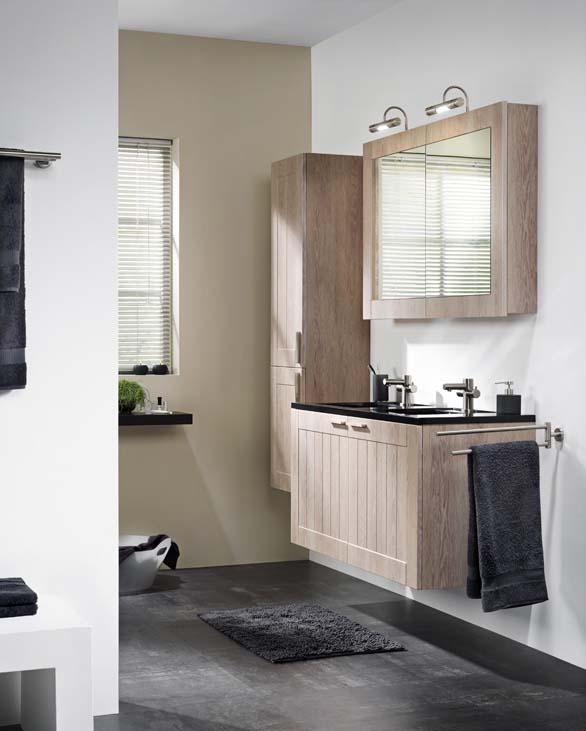 Zelfbouwmarkt badkamermeubel frames rustiek eik dubbel for Spiegelkast voor badkamer