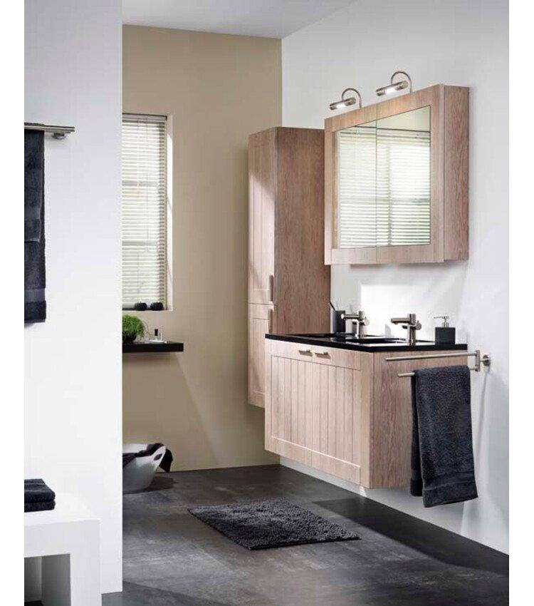 zelfbouwmarkt badkamermeubel frames rustiek eik dubbel