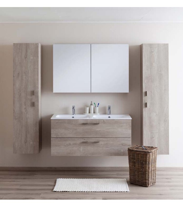 zelfbouwmarkt badkamermeubel dante eik betonlook 1200mm