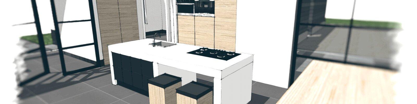 Welke keukenindeling past het beste bij jou jouw woning for Keuken in 3d tekenen