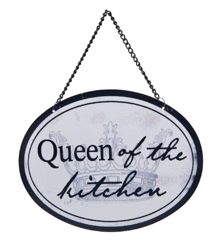 Tekstbord Queen of the kitchen - Cadeaushop en seizoenartikelen