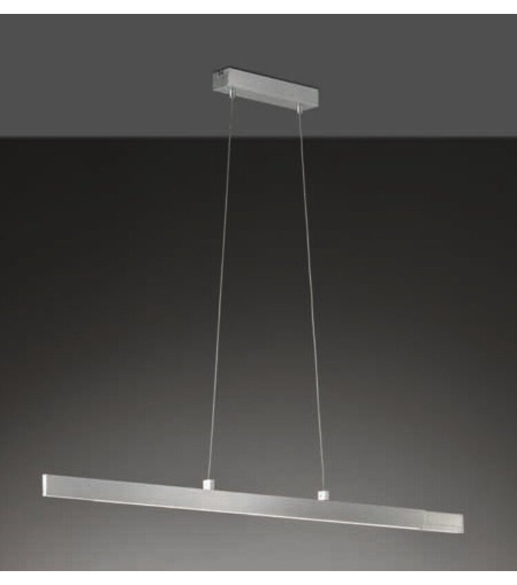 Suspension LED - 24W - Dimmable - Alu matt - Lampes suspendues & lustres