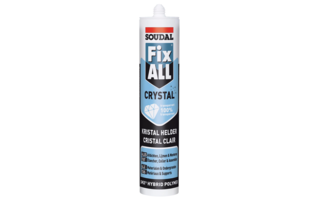 Colle de montage Fix All crystal 290ml transp. - Silicones