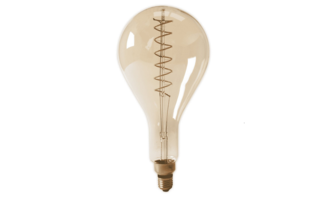 Led lamp filament E27 4W 200 lumen diam160mm h330mm  - LED-lampen