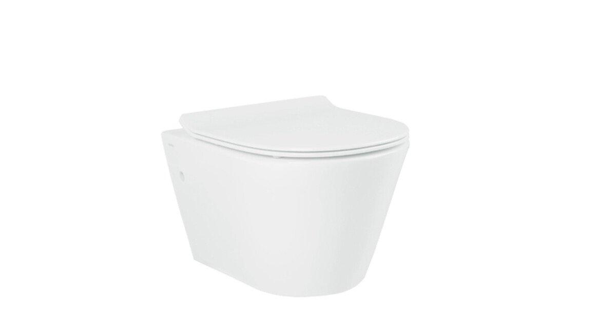 toilette suspendue hiku sans bride blanc. Black Bedroom Furniture Sets. Home Design Ideas